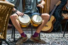 Atacama desert, Chile. CHILE, San Pedro de Atacama. Street musicians Stock Photos