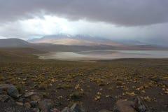 Atacama Desert Laguna Honda Storm royalty free stock images