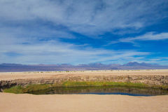 Atacama desert lake Stock Image