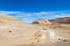 Atacama desert landscape stock images