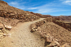 Atacama desert landscape unparved road on a hill royalty free stock photography