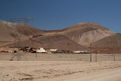 Atacama desert mining Royalty Free Stock Photo