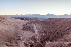 Atacama Desert, nice sunrise ate Valle de La Muerte Stock Images