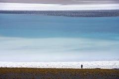 Atacama Desert in Northern Chile. Tuyejto Lagoon & Salt Flats viewed through the heat haze in the Atacama Desert in Northern Chile Stock Photo