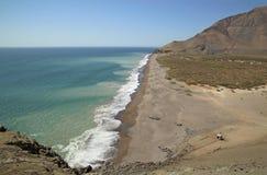 Atacama Desert and Pacific Ocean coastline, Chile Royalty Free Stock Photo