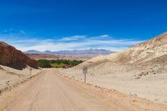 Atacama desert road Stock Photo
