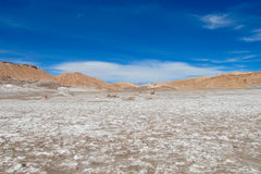 Atacama desert salt flat landscape. Atacama desert flat land empty arid landscape stock image