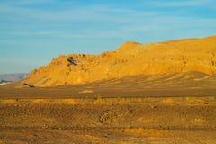 Atacama desert soil. Atacama desert volcano mountain slopes soil landscape. Atacama, Chile Stock Image