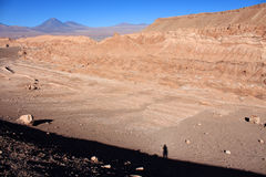 Atacama desert during sunset with shadow person Stock Photography