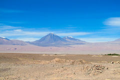 Atacama desert volcanos. With snow capes Stock Photo