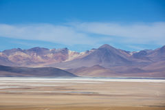 Atacama Mountain with blue sky in Eduardo Avaroa Park Royalty Free Stock Photo