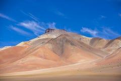 Atacama Mountain with blue sky in Eduardo Avaroa Park Royalty Free Stock Photos