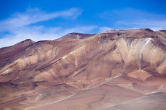Atacama Mountain with blue sky in Eduardo Avaroa Park Stock Image