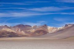Atacama Mountain with blue sky in Eduardo Avaroa Park Royalty Free Stock Photography