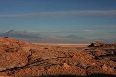 Atacama mountains at sunset Stock Photos