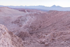 Atacama-Wüste, Valle de La Muerte - Sonnenaufgang Lizenzfreie Stockfotos