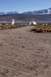 Atacamaweg met geiser Stock Fotografie