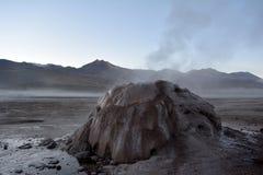 Atacamawoestijn - geiser royalty-vrije stock foto