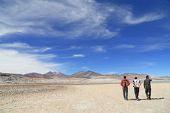 Atacamawoestijn met blauwe hemel Royalty-vrije Stock Afbeelding