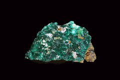 Atacamite. Copper ore with very low metal content. Formerly it used in the manufacture of dusting powders for pen ink Royalty Free Stock Image
