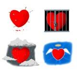 Atack 1 de coeur Image libre de droits