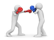 Atack and defence in boxing!. 3d isolated characters sports series Stock Photography