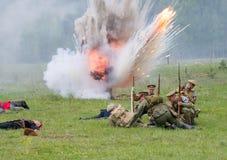 Atack dell'artiglieria Fotografie Stock Libere da Diritti