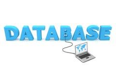 Atado con alambre a la base de datos Imagen de archivo
