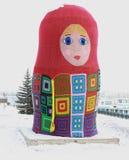 Atado con matryoshka krasnoyarsk Imagenes de archivo