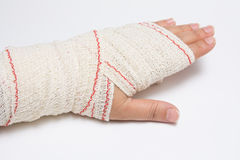 Atadura da mão Imagem de Stock