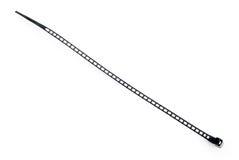 Atadura de cables plástica negra Fotos de archivo libres de regalías