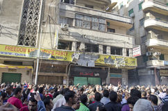 Atak na Wolności i Sprawiedliwości biuro partii Zdjęcie Stock
