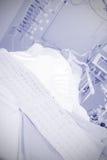 Atak serca w ICU ECG ciężki pacjent zdjęcia stock