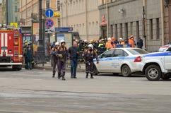 Atak w miasta metrze Zdjęcie Royalty Free