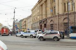 Atak w miasta metrze Fotografia Stock