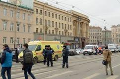 Atak w miasta metrze Obrazy Royalty Free