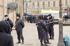 Atak w miasta metrze Fotografia Royalty Free