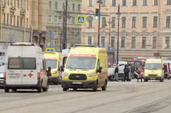 Atak w miasta metrze Obraz Royalty Free