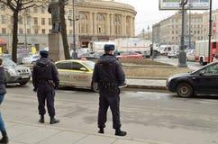 Atak w miasta metrze Obrazy Stock