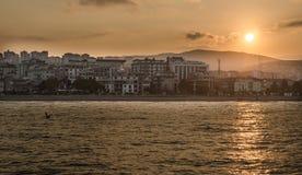 Atakum海滩萨姆松,土耳其 免版税库存图片