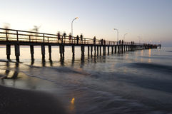 Atakum strand, Black Sea. Turkiet Samsun stad Arkivfoto