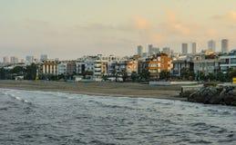 Atakum strand Samsun, Turkiet Arkivfoton