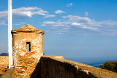 Atalaya de Castillo de Gibralfaro Imagen de archivo