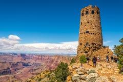 Atalaya de la opinión del desierto Imagenes de archivo
