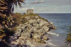 Atalaya maya en Tulum, México foto de archivo libre de regalías