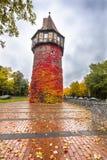 Atalaya medieval Dohrener Turm en Hannover, Alemania Foto de archivo