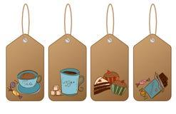 Atalho com sobremesa e café Imagens de Stock Royalty Free