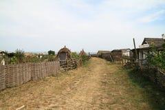Ataman-Cossack χωριό, εθνογραφικός σύνθετος Στοκ Εικόνα