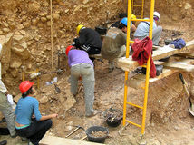 Atapuerca fossil site Stock Photos