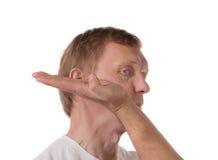 Ataque à cabeça para a derrota Imagem de Stock